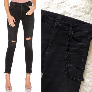 Rocket High Rise Jeans with Chain Detail by COH